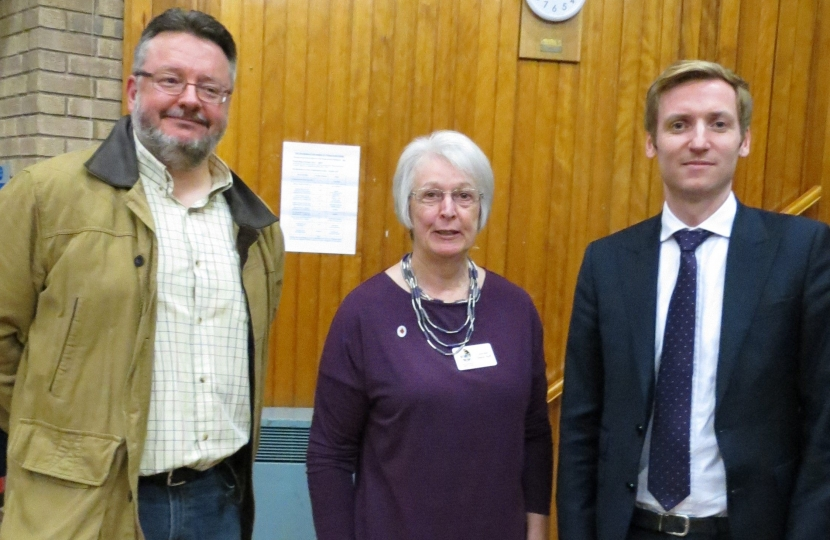 Lee with Cllrs Lewis and Ruff at the meeting
