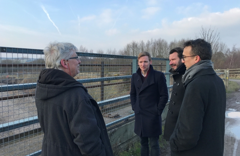 Meeting with HS2 representatives in Staveley