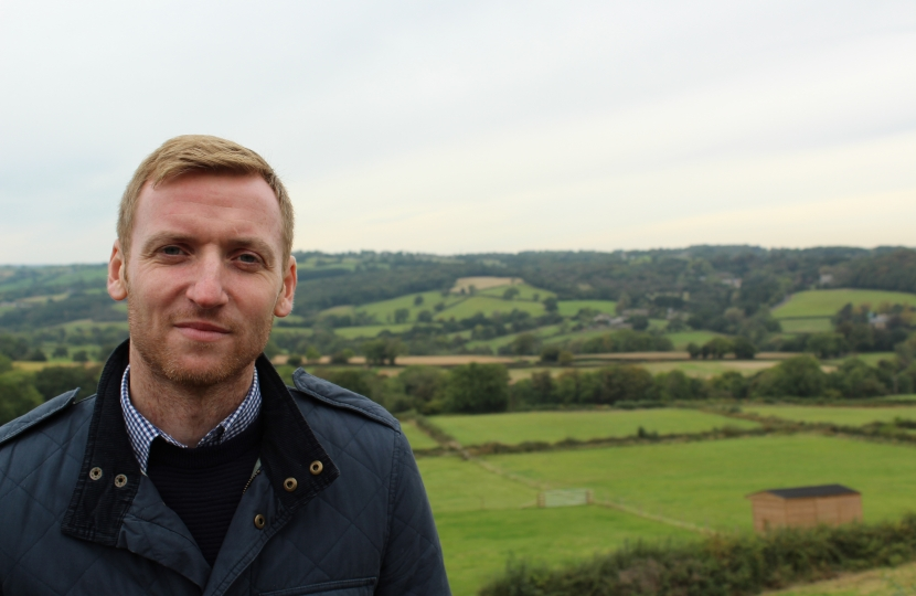 Lee Rowley in North East Derbyshire countryside